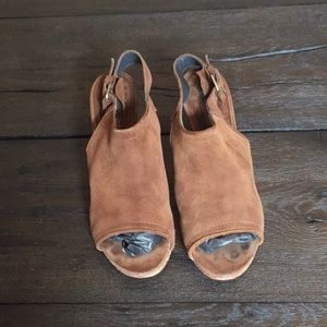 Alberto Fermani Shoes - Alberto Fermani leather brown peep toe heels